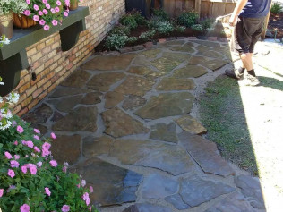 Flagstone Patio Install